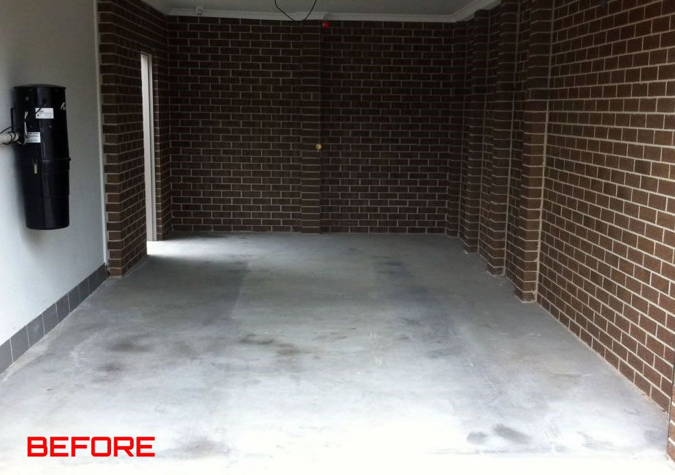 Polished Concrete Floors Before